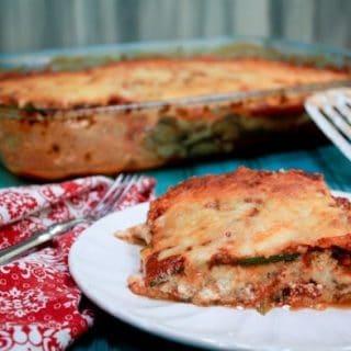 Noodleless Zucchini Mushroom Lasagna
