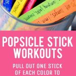 Popsicle Stick Workouts
