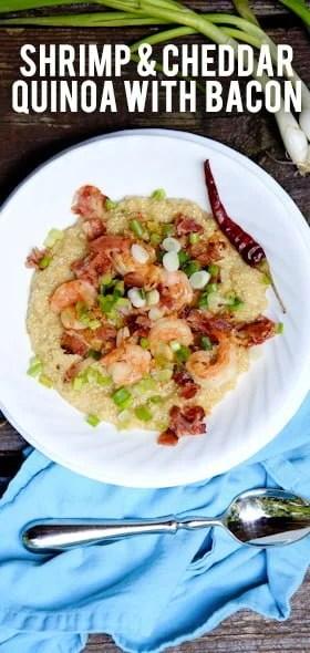 Shrimp & Cheddar Quinoa with Bacon