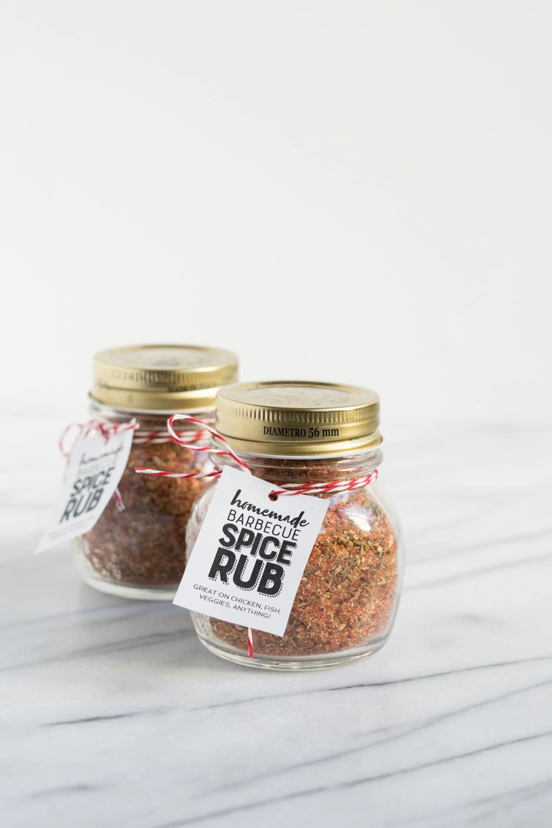 Two jars of Barbecue Spice Rub