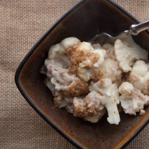 Cheesy Cauliflower and Farro Bake