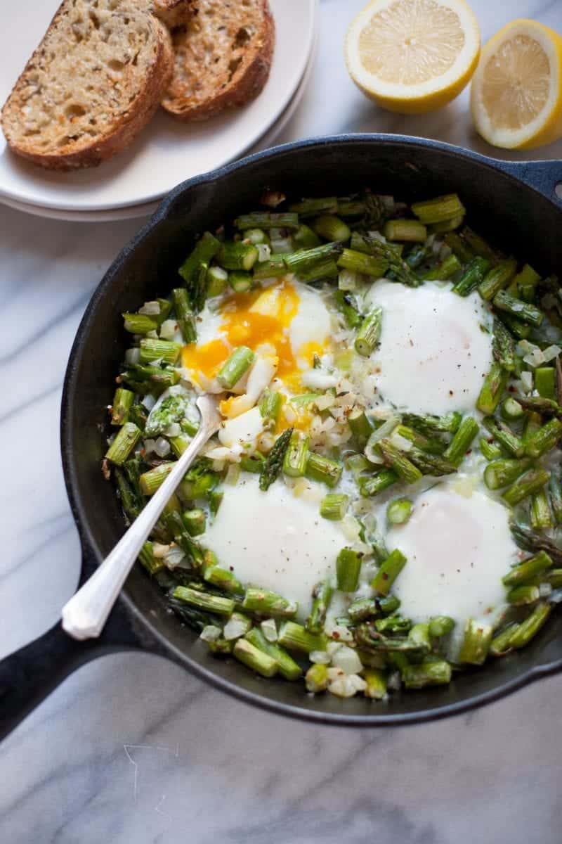 Midnight Asparagus and Eggs