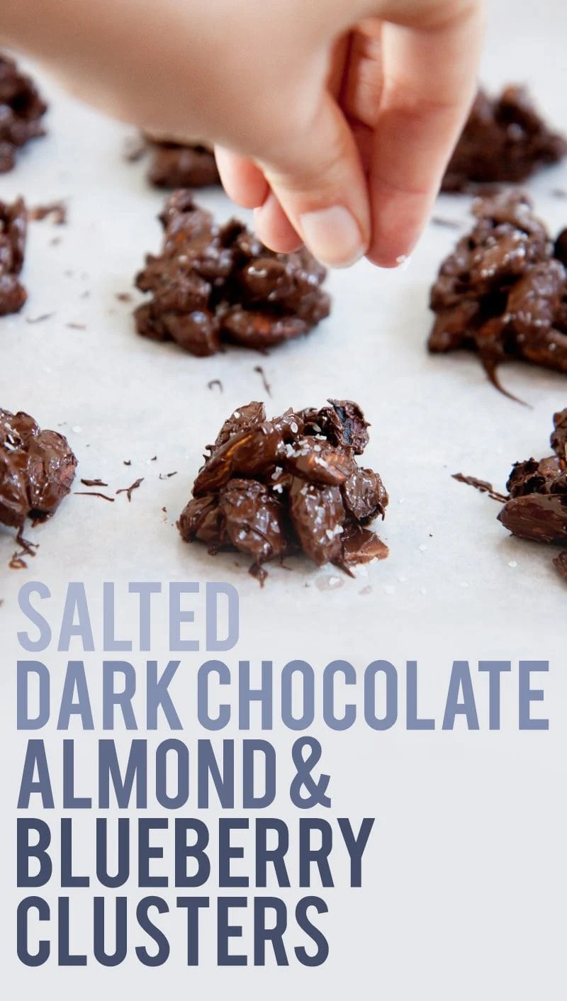 Salted Dark Chocolate, Almond, & Blueberry Clusters