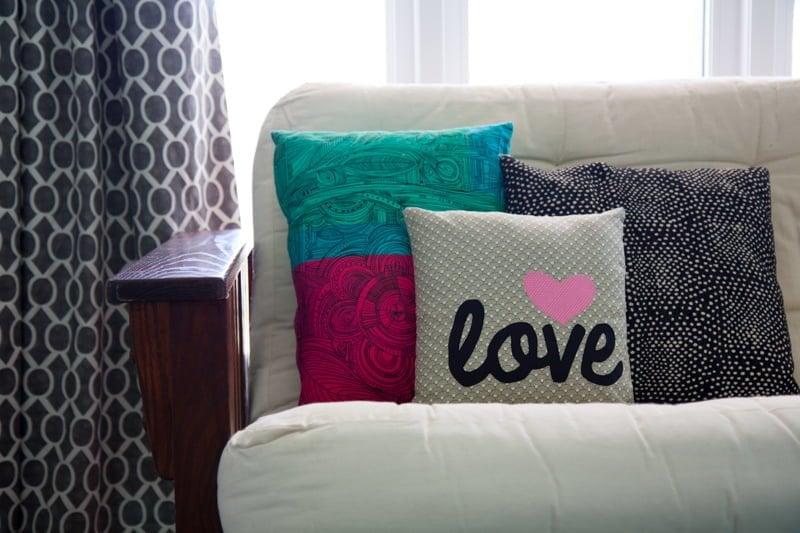 pillow futon nursery