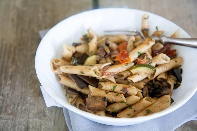grilled veggie pasta