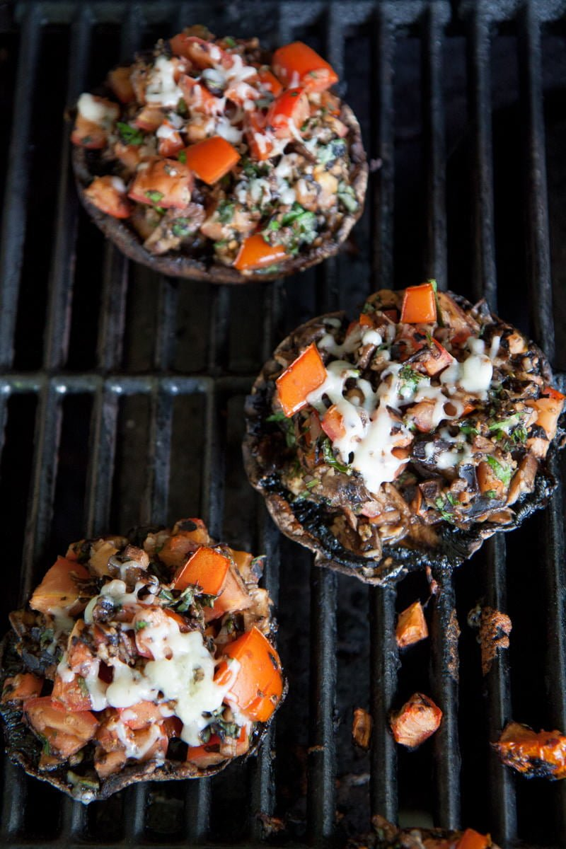 stuffed mushrooms portabella grill