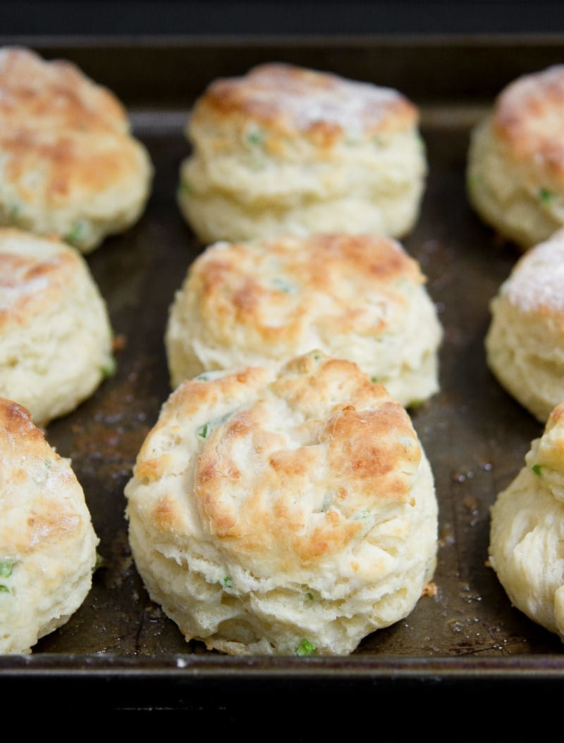 Garlic Scape & Sharp Cheddar Biscuits