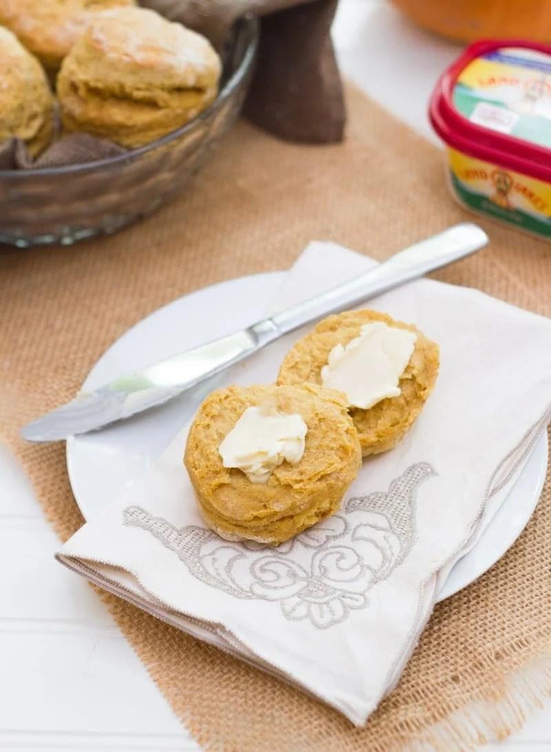 Pumpkin Spice Buttermilk Biscuits