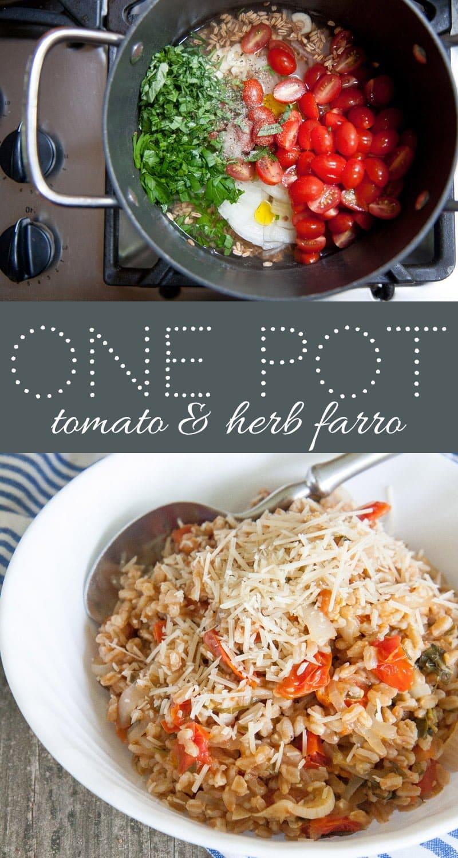 One Pot Fresh Herb and Tomato Farro