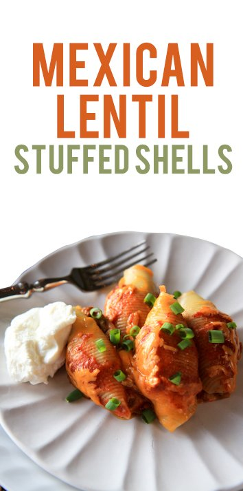 Mexican Lentil Stuffed Shells