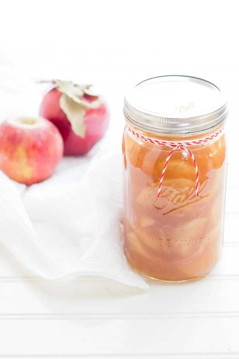 Bourbon-Vanilla Bean Apple Pie Filling