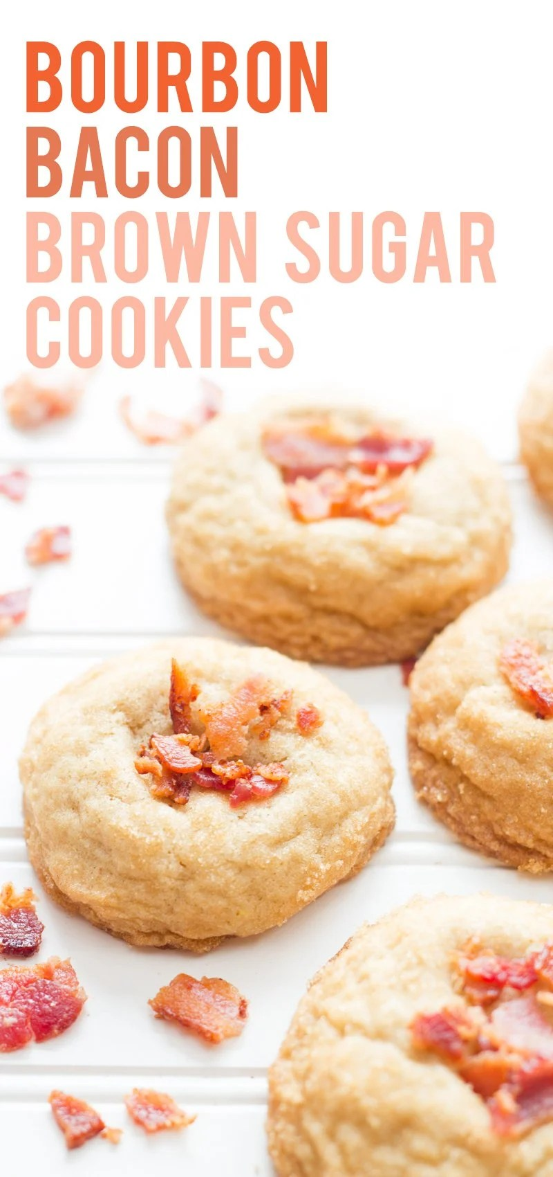 Bourbon Bacon Brown Sugar Cookies