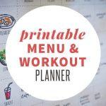 Printable Menu and Workout Planner