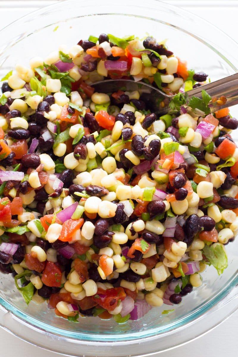 Black Bean Tortilla Chopped Salad with Ranch