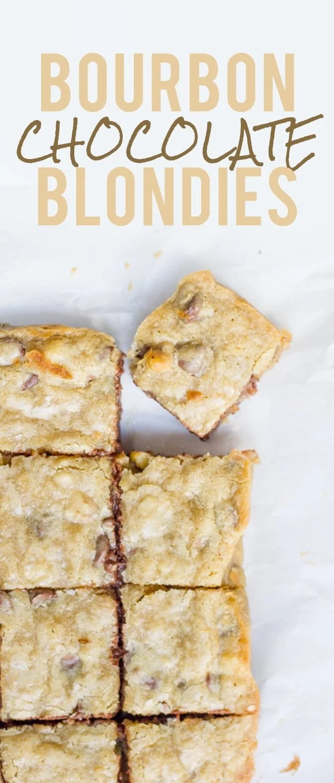 Bourbon Chocolate Chip Blondies