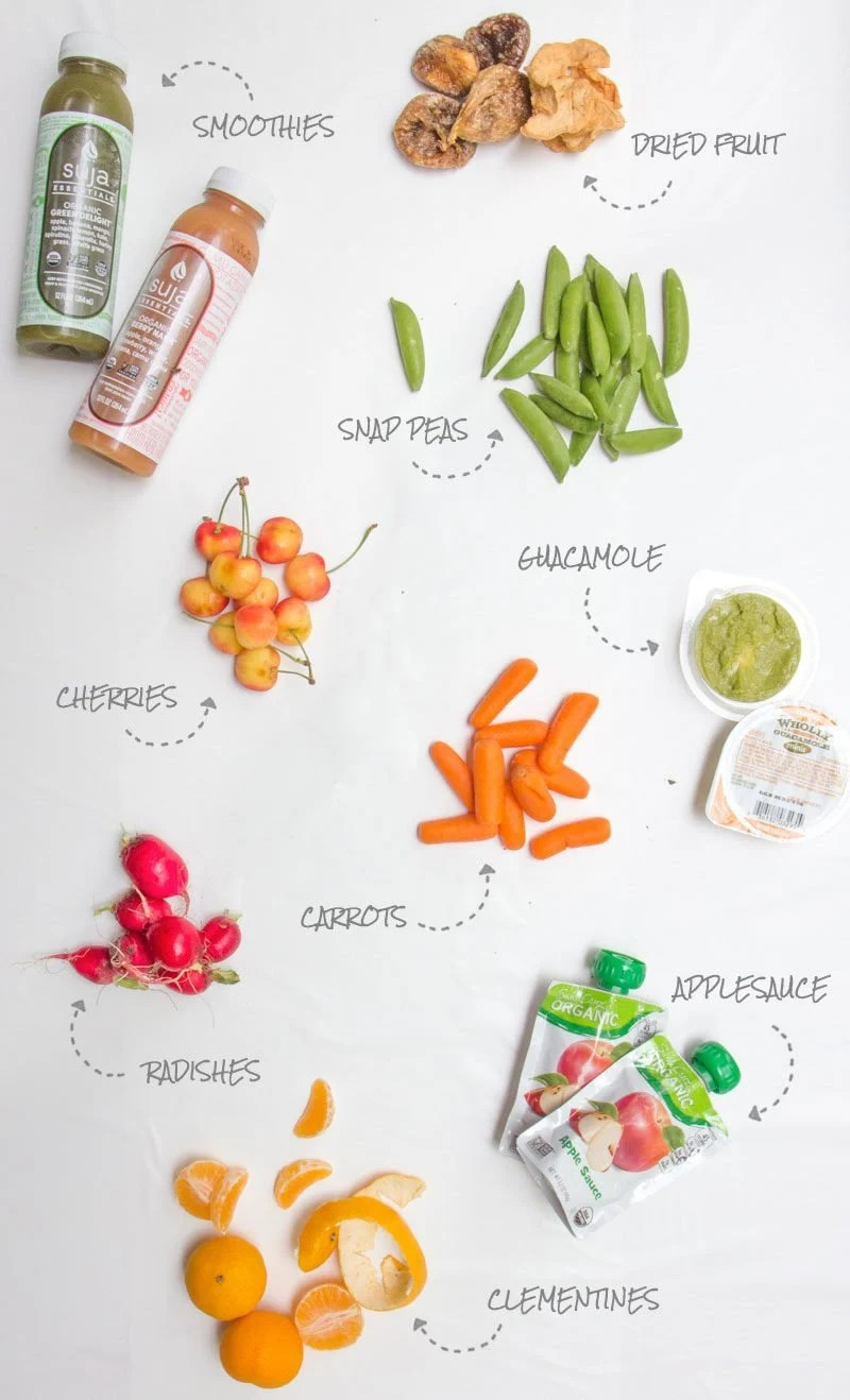 Road Trip Snacks Fruit and Veggies