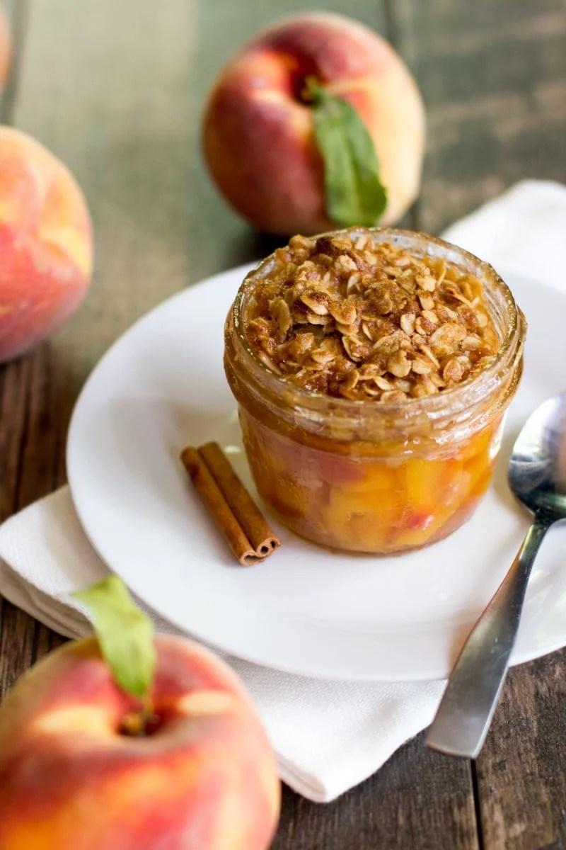 Single Serving Peach Crisp