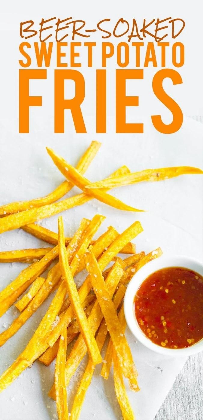 Beer Soaked Sweet Potato Fries