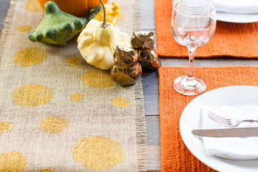 No Sew Burlap Table Runner