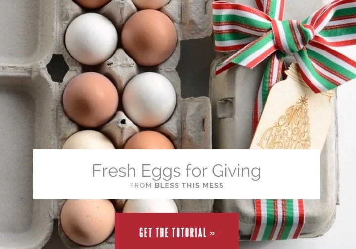 Fresh Eggs for Giving from Bless This Mess
