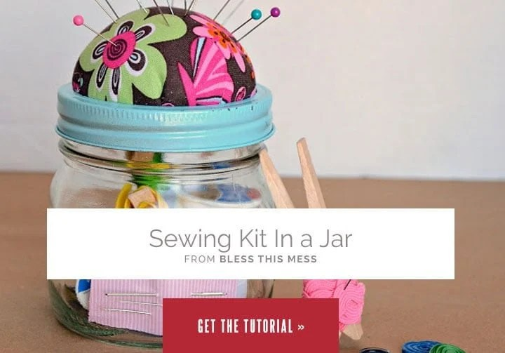 Sewing Kit in a Jar from Bless This Mess