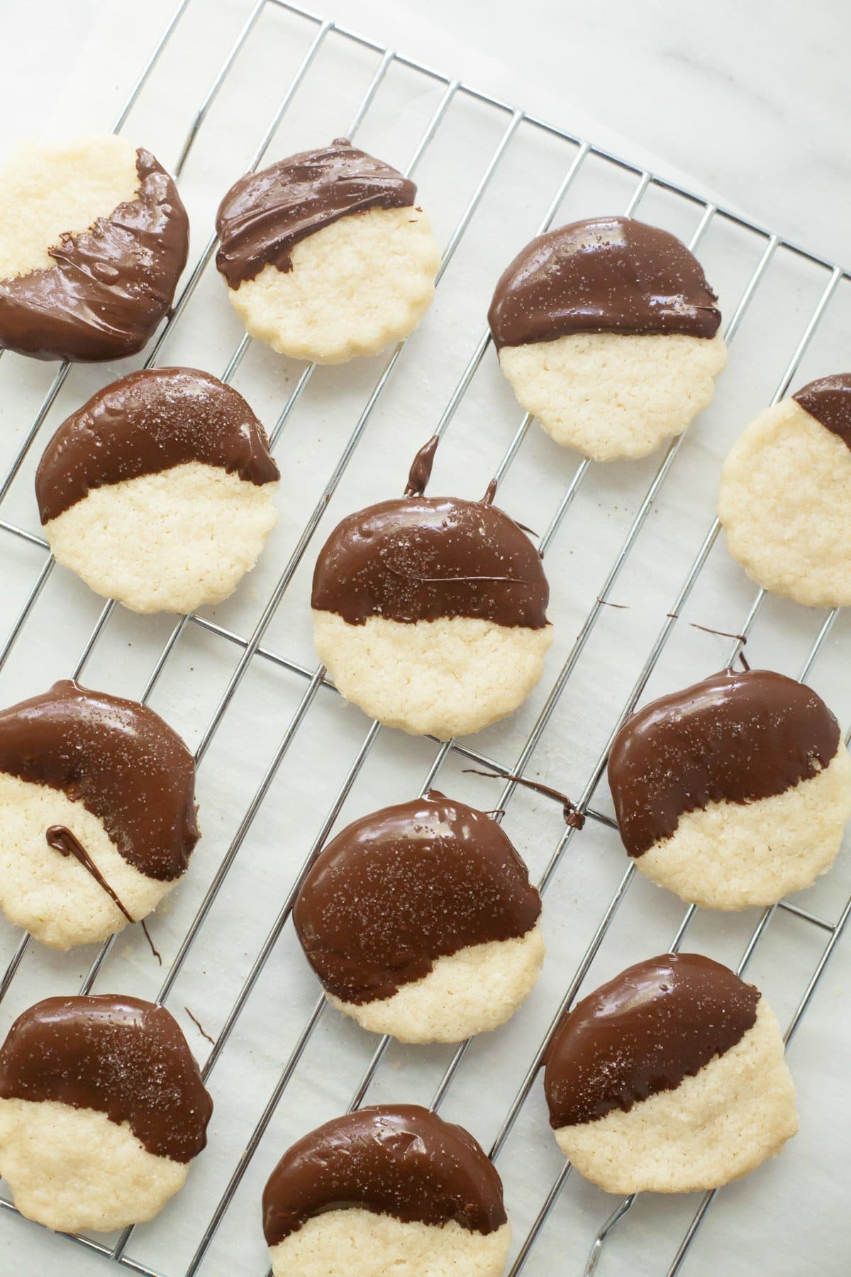 Small Batch Chocolate Dipped Shortbread Cookies