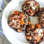 Grilled Herb and Tomato Stuffed Portabella Mushrooms