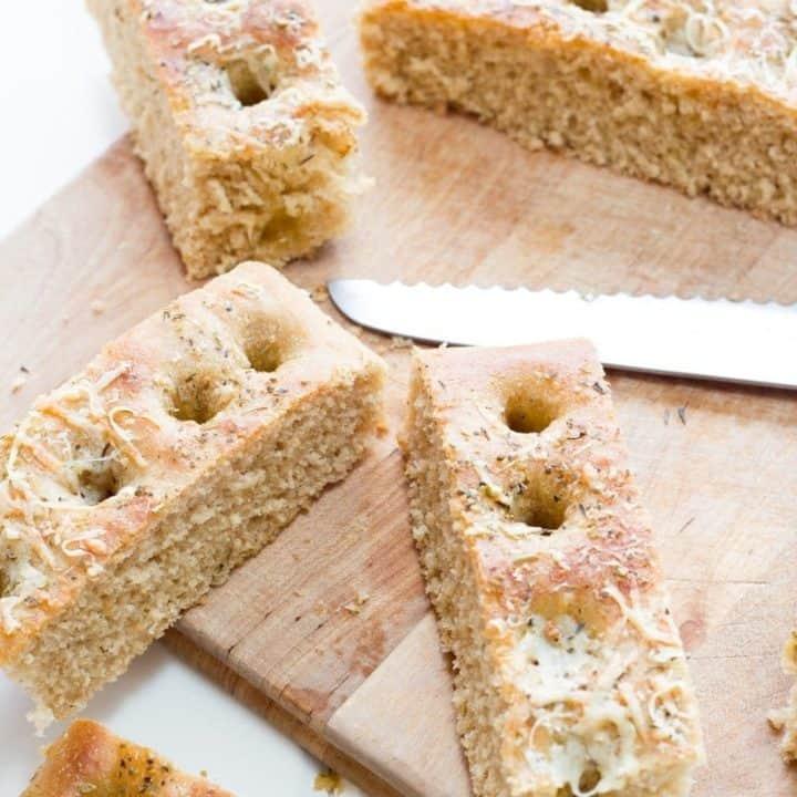 30 Minute Whole Wheat Focaccia Bread