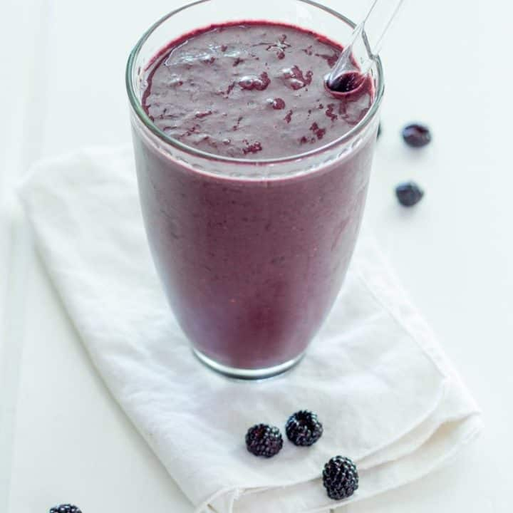 Dark Chocolate Raspberry Smoothie