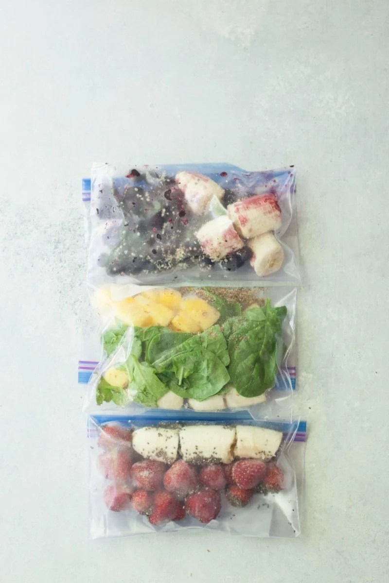 Meal Prep Smoothies In Bags