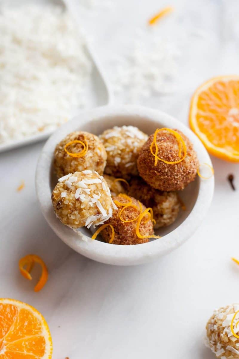 No Bake Clementine and Clove Macaroons