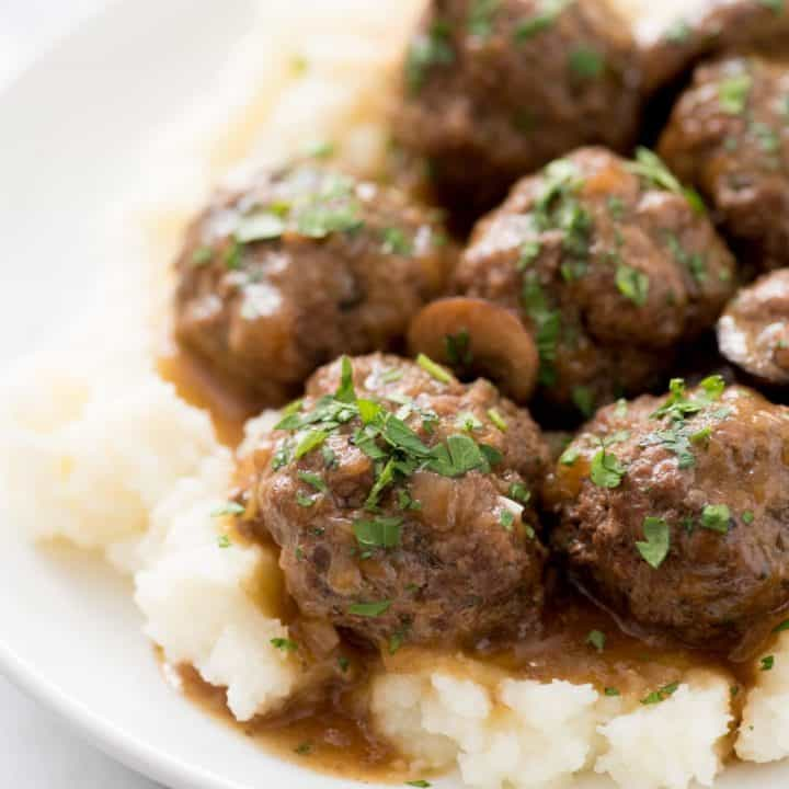 Instant Pot Swedish Meatballs with Mushroom Gravy