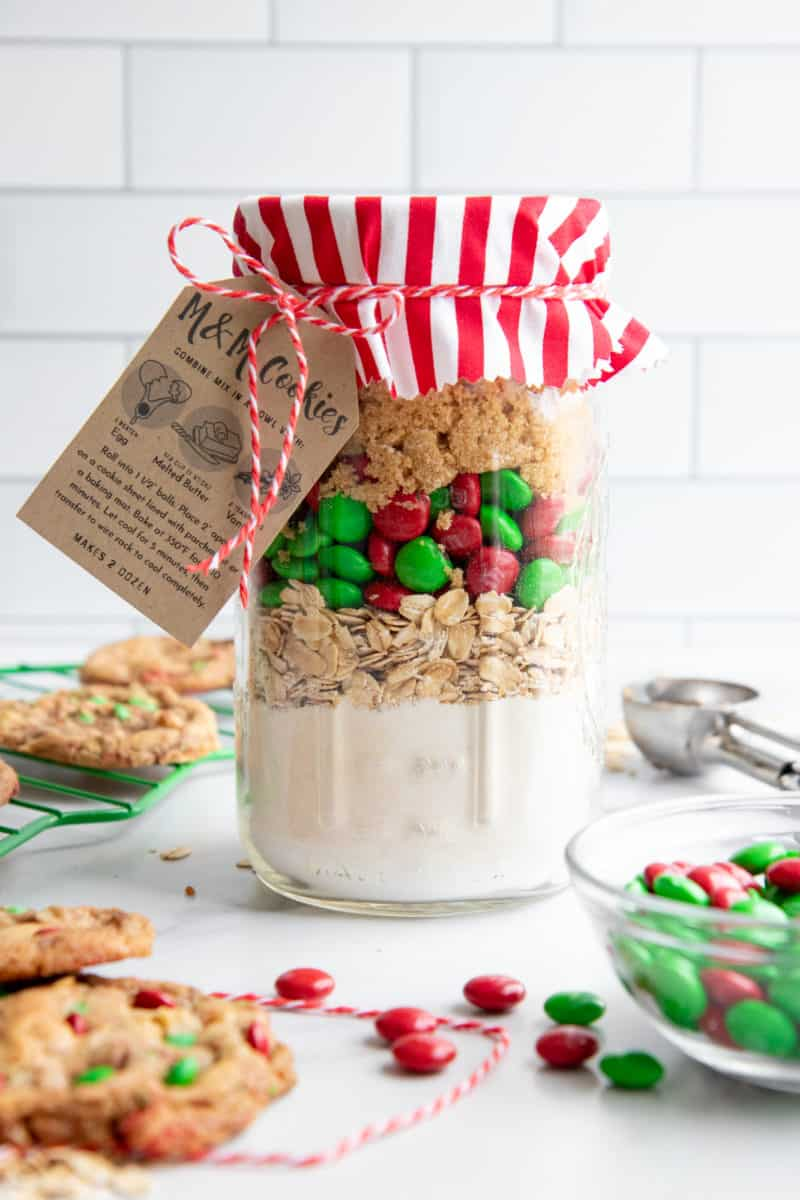 M M Cookie Mix In A Jar Easy Christmas Food Gift Wholefully
