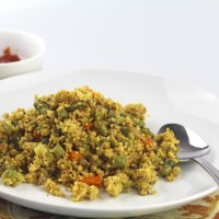 Foxtail Millet (Navane/Korralu/Thennai) Fried 'Rice'
