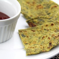 Sweet Potato and Methi (Fenugreek) Theplas (Whole Wheat FlatBread)