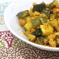Zucchini Channa Poriyal/Palya/Subzi