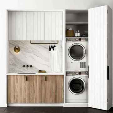 37 cool small laundry room design ideas