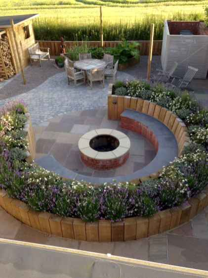 14 easy diy fire pit for backyard landscaping ideas