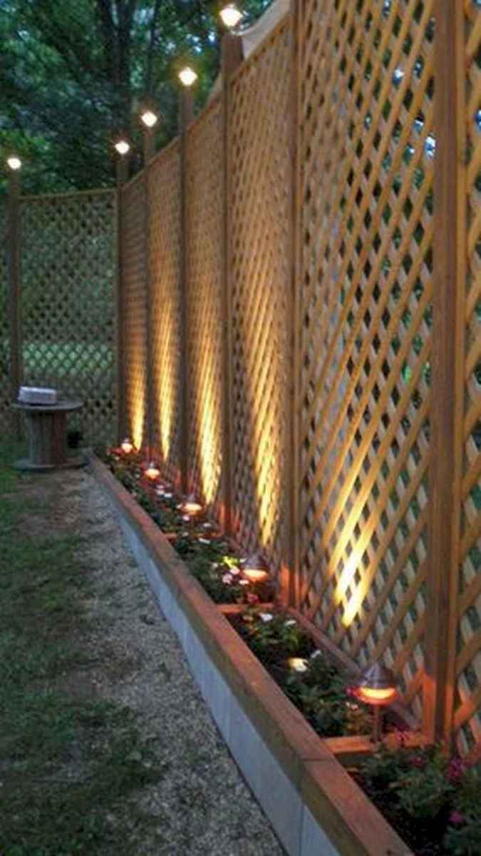 62 easy creative privacy fence design ideas