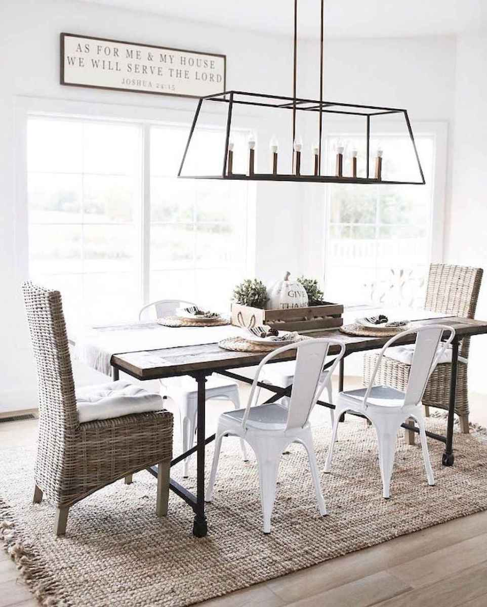 64 gorgeous farmhouse dining room table and decorating ideas