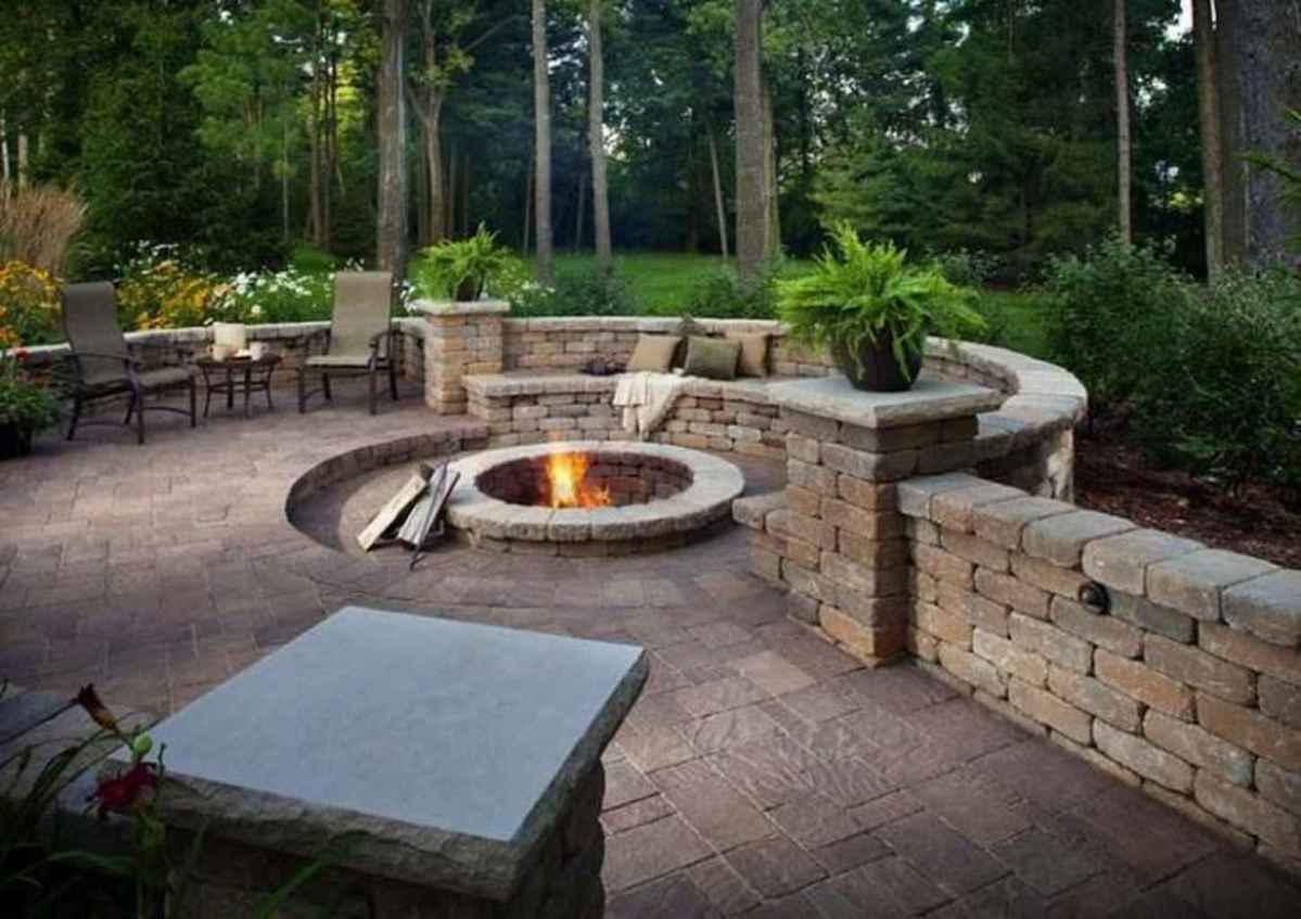 51 awesome outdoor fire pit seating design ideas for backyard