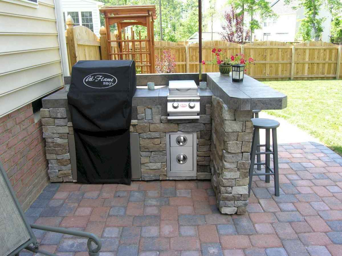 57 best outdoor kitchen and grill for summer backyard ideas