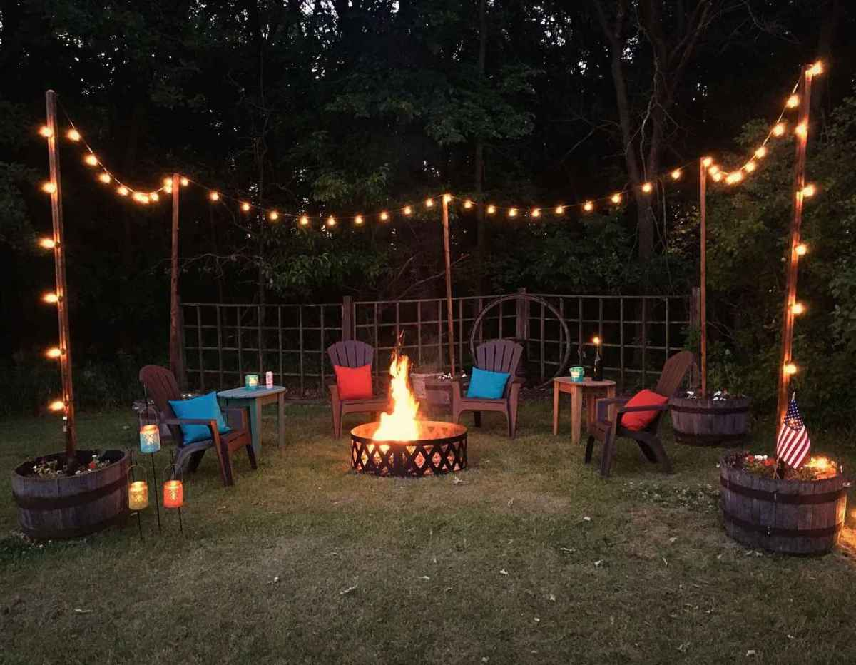 64 awesome outdoor fire pit seating design ideas for backyard