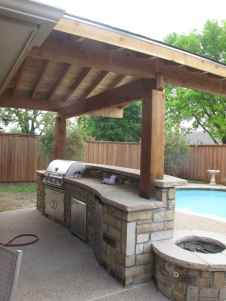 66 best outdoor kitchen and grill for summer backyard ideas
