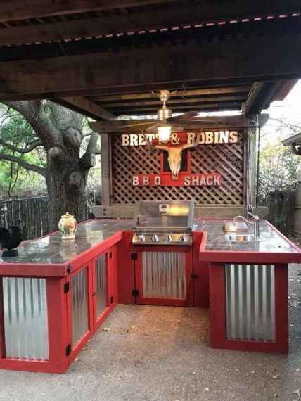 83 best outdoor kitchen and grill for summer backyard ideas
