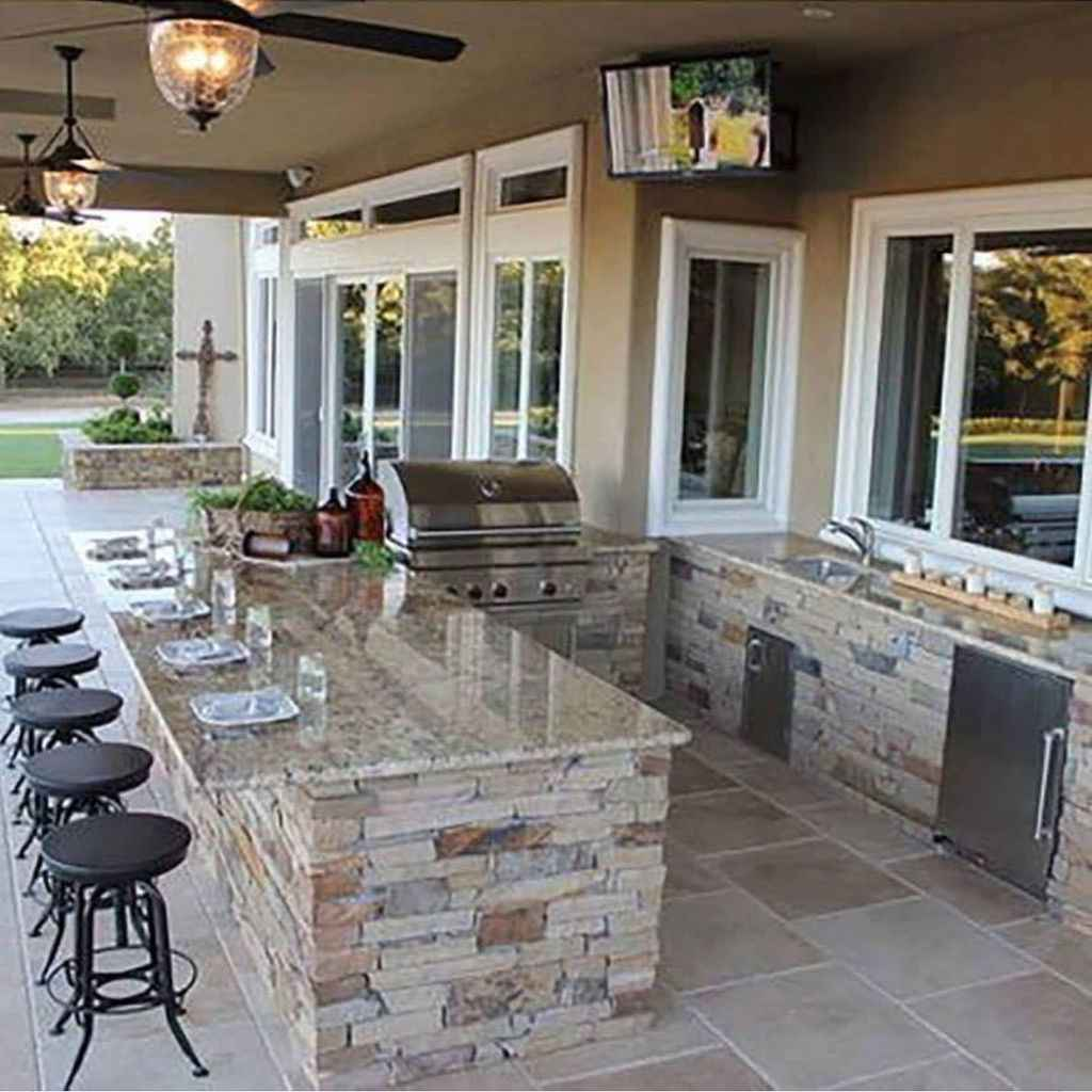 89 best outdoor kitchen and grill for summer backyard ideas