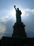 I saw the statue of liberty