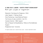 CenteredBirth One Day Workshop