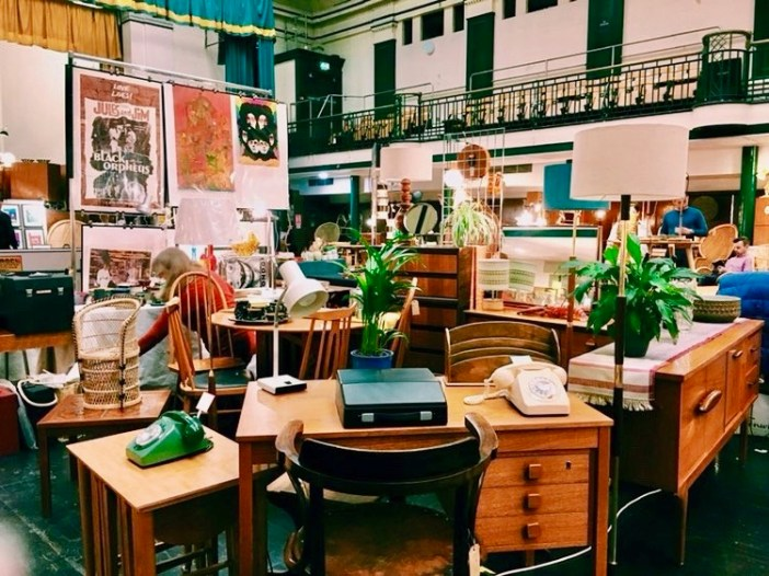 An eclectic collection of 1950s furniture.