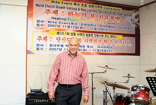 Mike Evans at World Church Growth Institute in South Korea